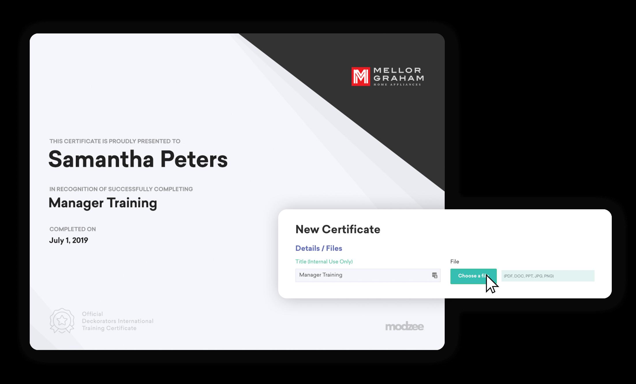 modzee certificate
